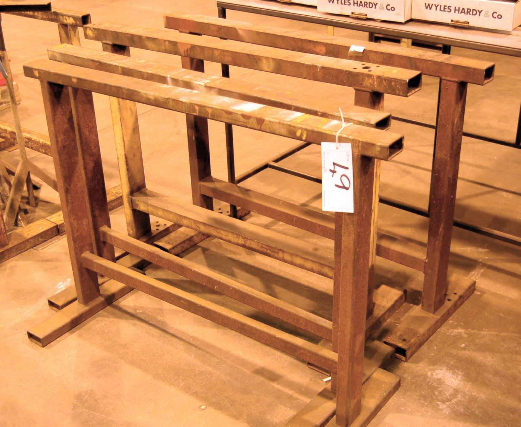 Lot 49 - Two Pairs of Heavy Duty Welded Steel Tressels