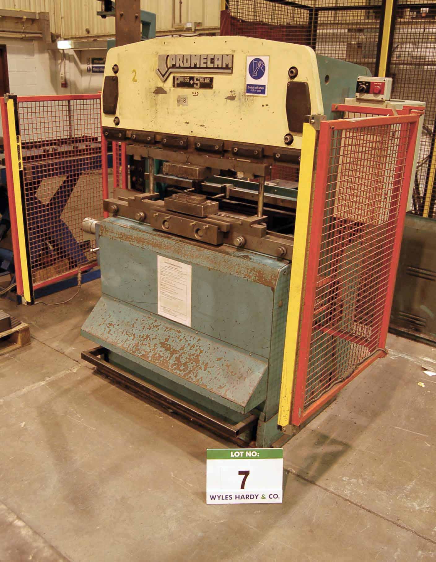 Lot 7 - A PROMECAM Model RG-25-12 NC Press Brake Serial No. 02-025-12-2176 (80071) 25-Ton x 1200mm, 2 inch