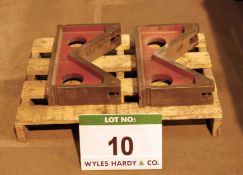 A Pair Cast Iron Vee Blocks, 455mm x 290mm x 95mm Capacity