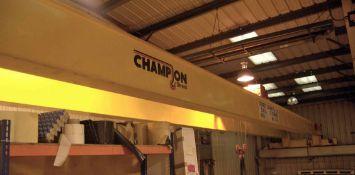 A CHAMPION STREET CRANES 5-Tonne capacity Twin Beam Overhead Travelling Gantry Crane, Serial No.
