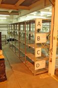 12 Bays of 2m x 1m Bolt Together Steel Racking