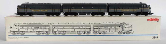 E-LOKOMOTIVE, Herst. Märklin/Göppingen, Spur H0, Diesel Elektro-Lokomotive GM EMD F7, Nr. 3349,