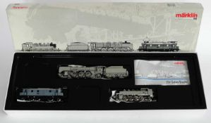 """ZUGPACKUNG, Herst. Märklin/Göppingen, Spur H0, """"750 Jahre Berlin"""" Tenderlokomotive BR 86 von"""