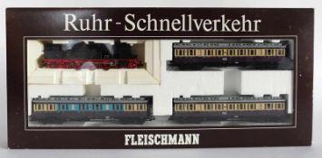 """ZUGPACKUNG, Herst. Fleischmann/Heilsbronn, Spur H0, """"Ruhr-Schnellverkehr"""", Nr. 1887, orig. Karton,"""