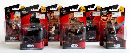 SPIELFIGUREN, Star Wars, Konvolut von 6, Hersteller Disney, Infinity 3.0, bestehend aus: Darth