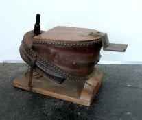 GROßER FUßBLASEBALG, Victorianische Epoche, Hersteller Buck & Hickman/ London, Holz geschraubt,