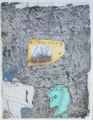 """HEGETUSCH, Rolf (*1948 Münsing), Mischtechnik/Bütten, """"Fenêtre sur corps"""", unten links monogr., dat."""