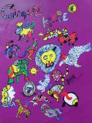"""SAINT PHALLE, Niki de (*1930 Neuilly-sur-Seine †2002 San Diego), Serigraphie, """"Cirque Knie"""", 70 x"""