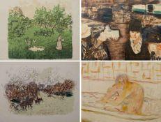 BONNARD, Pierre (*1867 Fontenay-aux-Roses †1947 Le Cannet), 4 Farblithografien, Le Verger/ L'Arc