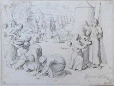 """KOCH, I. C./ Overbeck, Friedrich (*1789 Lübeck †1869 Rom), Radierung, """"Manalese"""", rechts oben bzw."""