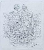 "THOMA, Hans (* 1839 Bernau †1924 Karlsruhe), Radierung, ""Symbol I"", rechts unten signiert, 26,5 x"