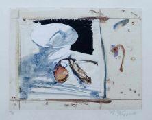 REGGIOLI, Alessandro (*1971), Aquatintaradierung, coloriert, Stillleben, unten links num. 72/75,