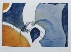 "KESTEL, Carin (*1957 Würzburg), Colographie, ""Novalis"", unten links betitelt und num. 6/30, rechts"