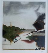 """BEERI, Tuvia (*1929), Farbradierung, """"Le pentagone"""", unten links num. 80/99 und rechts signiert, ca."""