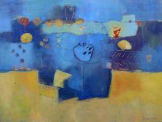 KLUSSIN, D., Mischtechnik, Abstrakte Komposition, unten rechts signiert, 60 x 80 cm