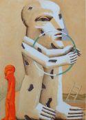"""ANTES, Horst (*1936 Heppenheim, lebt und arbeitet in Karslruhe), Farblithographie, """"Kopffüssler"""","""