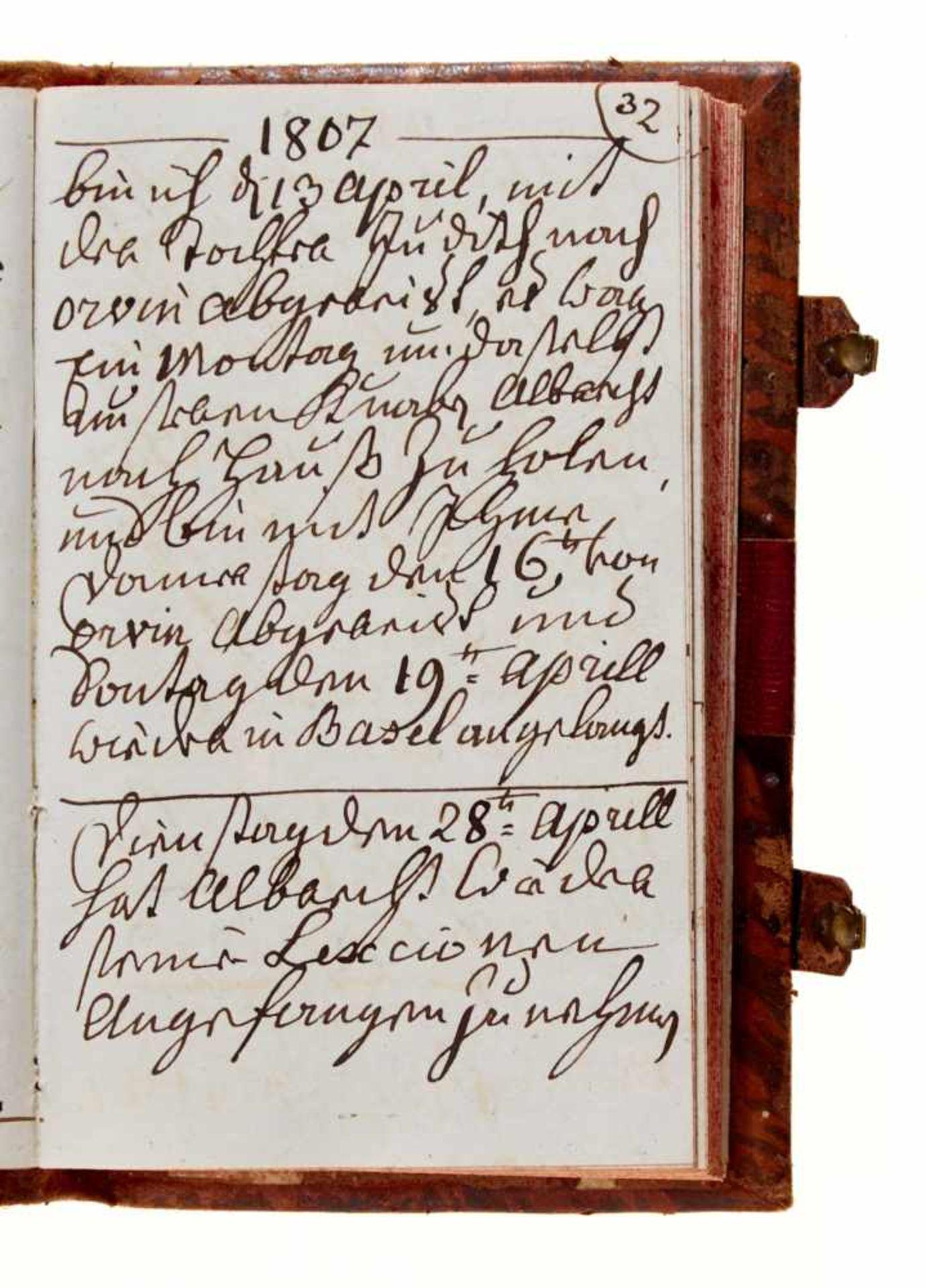 """Basel- """"Gantz Besondres, von mir aufgezeichnete Begebenheiten"""". Deutsche Handschrift auf Papier. - Bild 4 aus 4"""