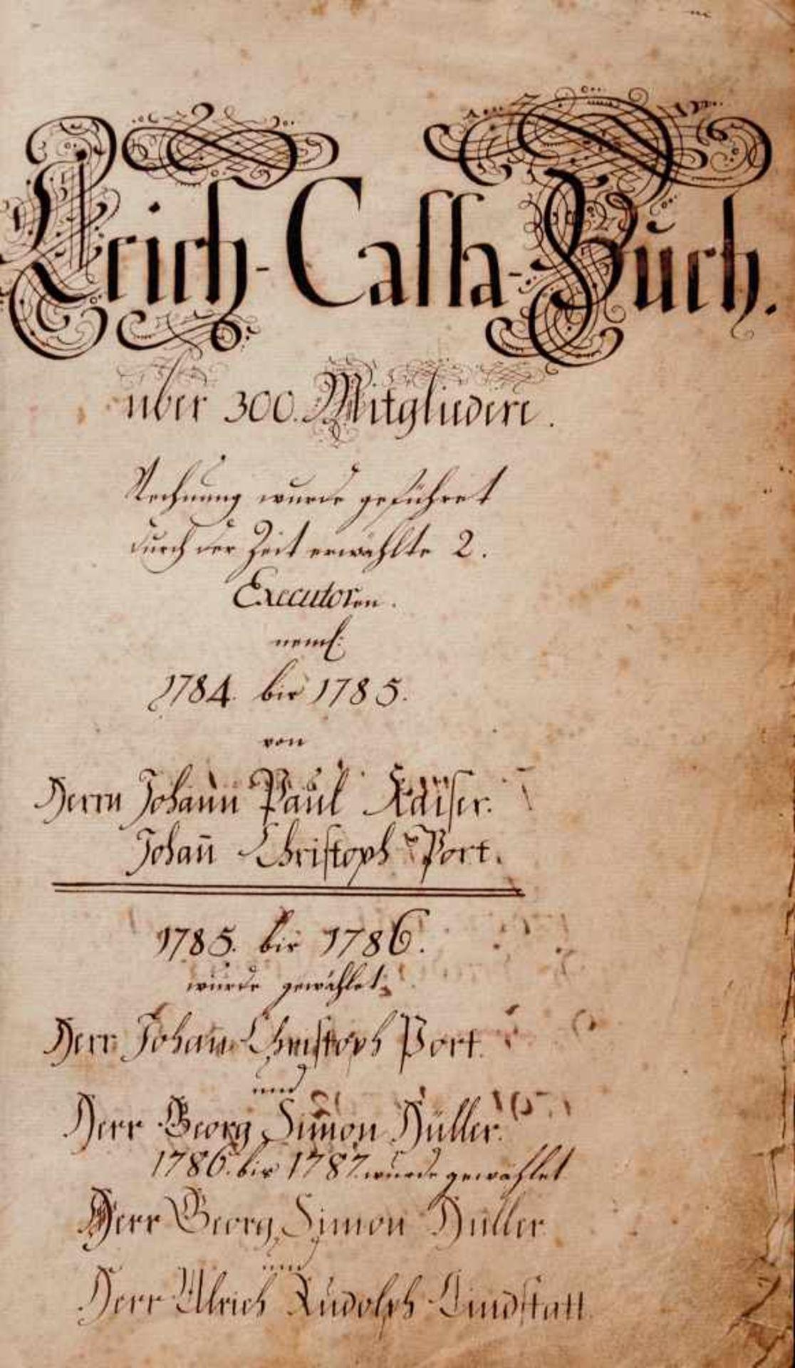 """Nürnberg- """"Leich-Cassa-Buch."""" Deutsche Handschrift auf Papier.Nürnberg, dat. 1784-1811, mit - Bild 2 aus 4"""