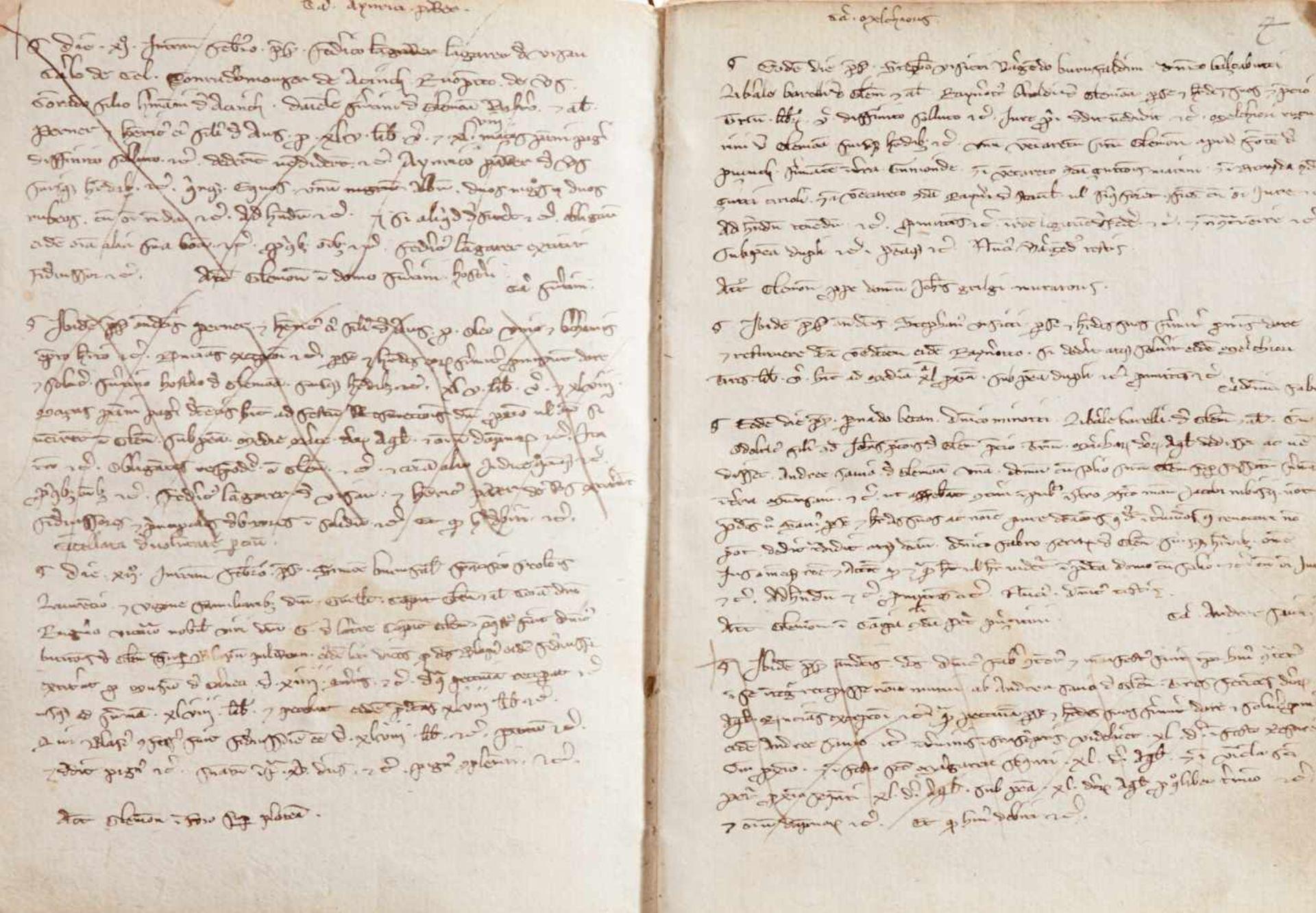 Gemona- Imbreviaturbuch des Notars Bartolomeo. Lateinische Handschrift auf Papier.Dat. Gemona ( - Bild 5 aus 9
