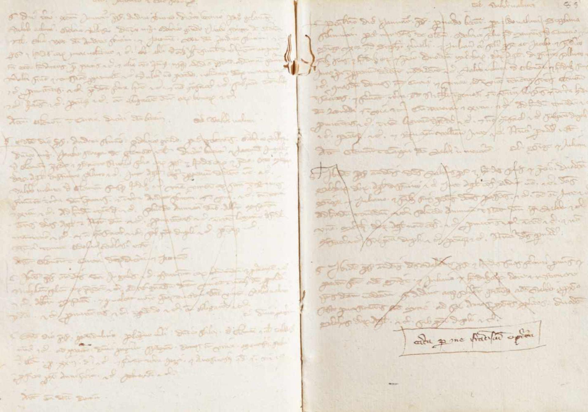 Gemona- Imbreviaturbuch des Notars Bartolomeo. Lateinische Handschrift auf Papier.Dat. Gemona ( - Bild 8 aus 9