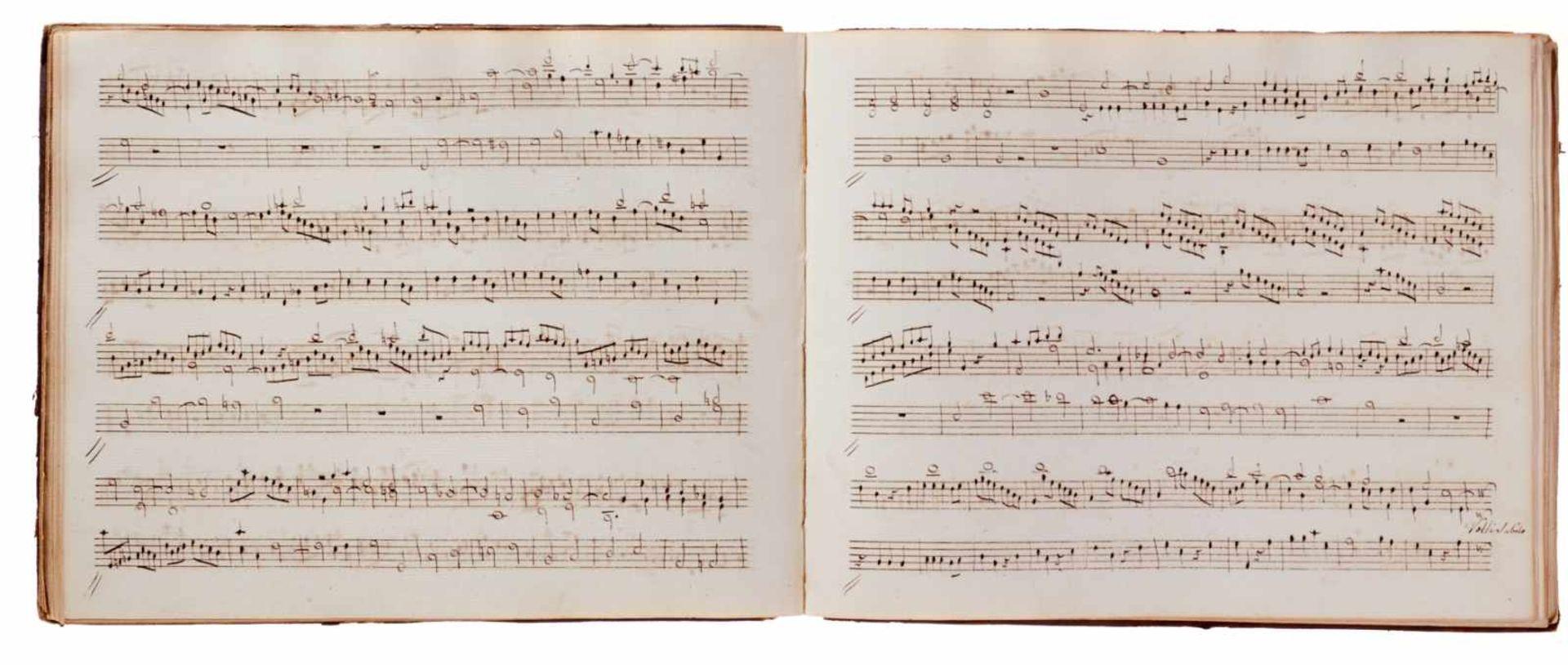 Notiz- und Skizzenbuch eines in Großbritannien tätigen Komponisten.Musikhandschrift auf Papier. Wohl - Bild 19 aus 30