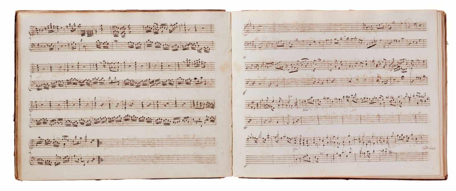Notiz- und Skizzenbuch eines in Großbritannien tätigen Komponisten.Musikhandschrift auf Papier. Wohl - Bild 22 aus 30