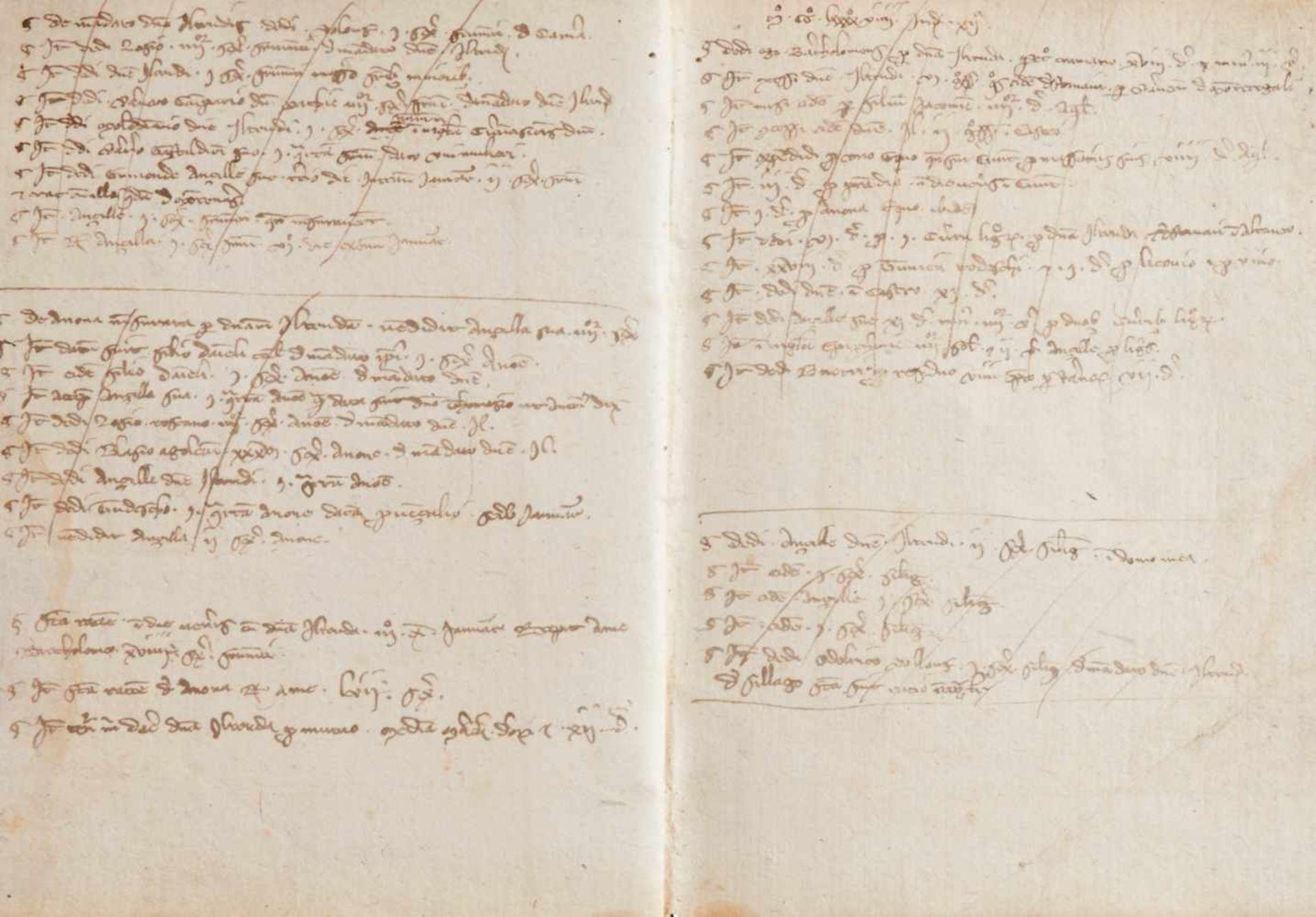 Gemona- Imbreviaturbuch des Notars Bartolomeo. Lateinische Handschrift auf Papier.Dat. Gemona ( - Bild 2 aus 9