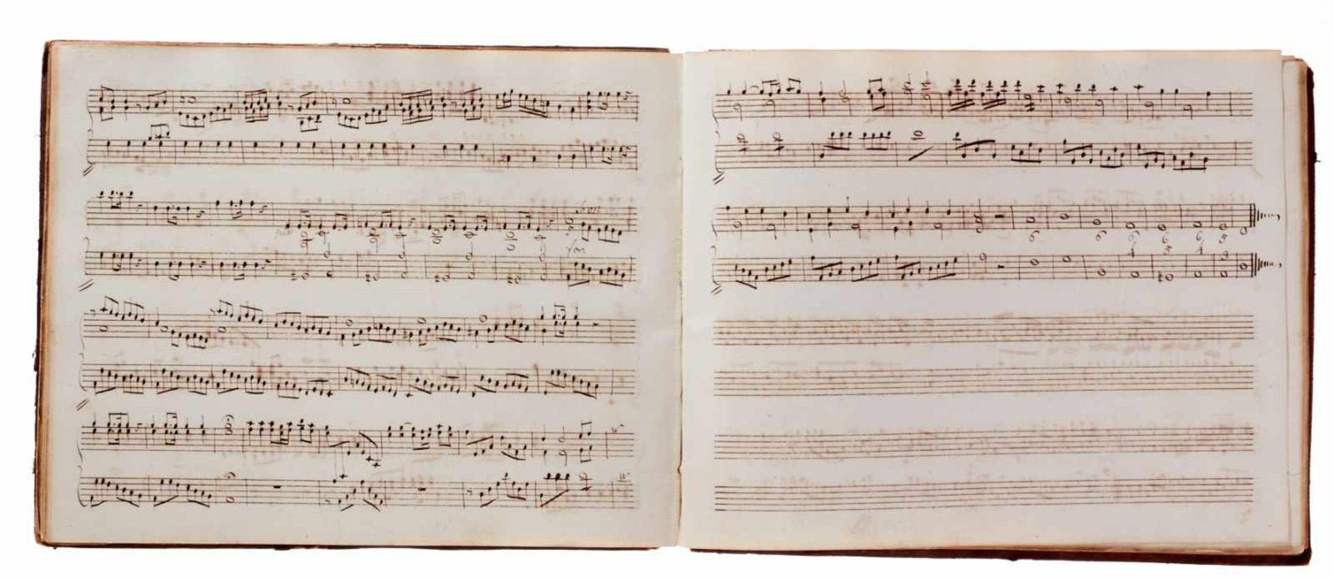 Notiz- und Skizzenbuch eines in Großbritannien tätigen Komponisten.Musikhandschrift auf Papier. Wohl - Bild 10 aus 30