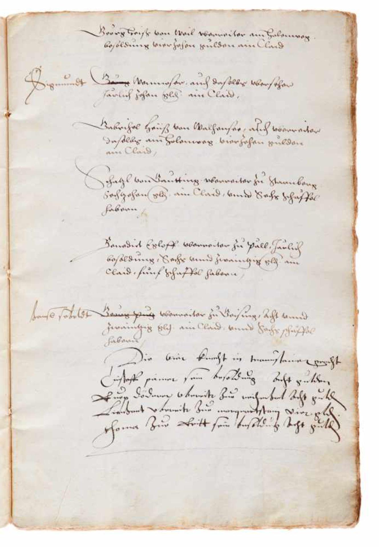 Bayern- Jagdordnung - Deutsche Handschrift auf Papier. Wohl München,dat. (15)51. Fol. Mit - Bild 2 aus 2