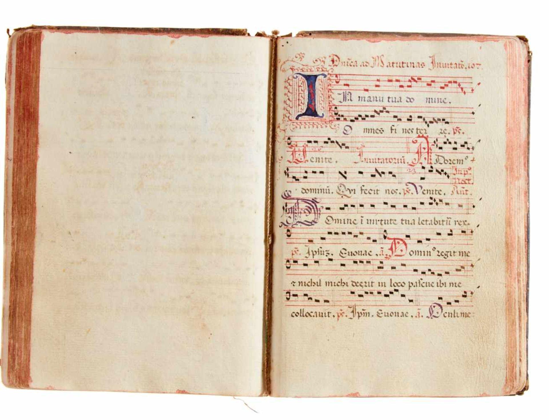 Siena- Antiphonar der Kartause Maggiano. Lateinische Handschrift auf Papier.Dat. Maggiano (Siena), - Bild 7 aus 7