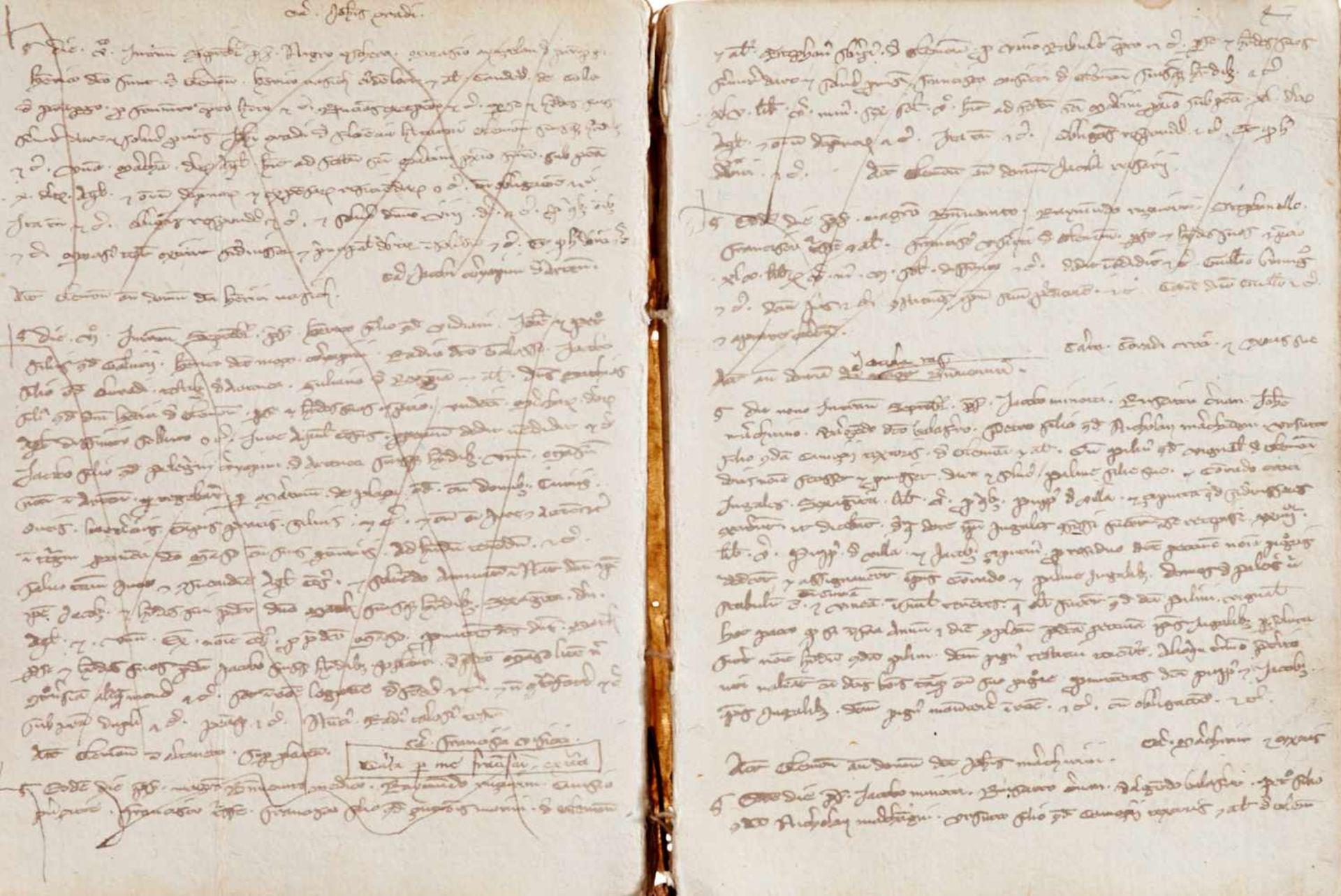 Gemona- Imbreviaturbuch des Notars Bartolomeo. Lateinische Handschrift auf Papier.Dat. Gemona ( - Bild 3 aus 9