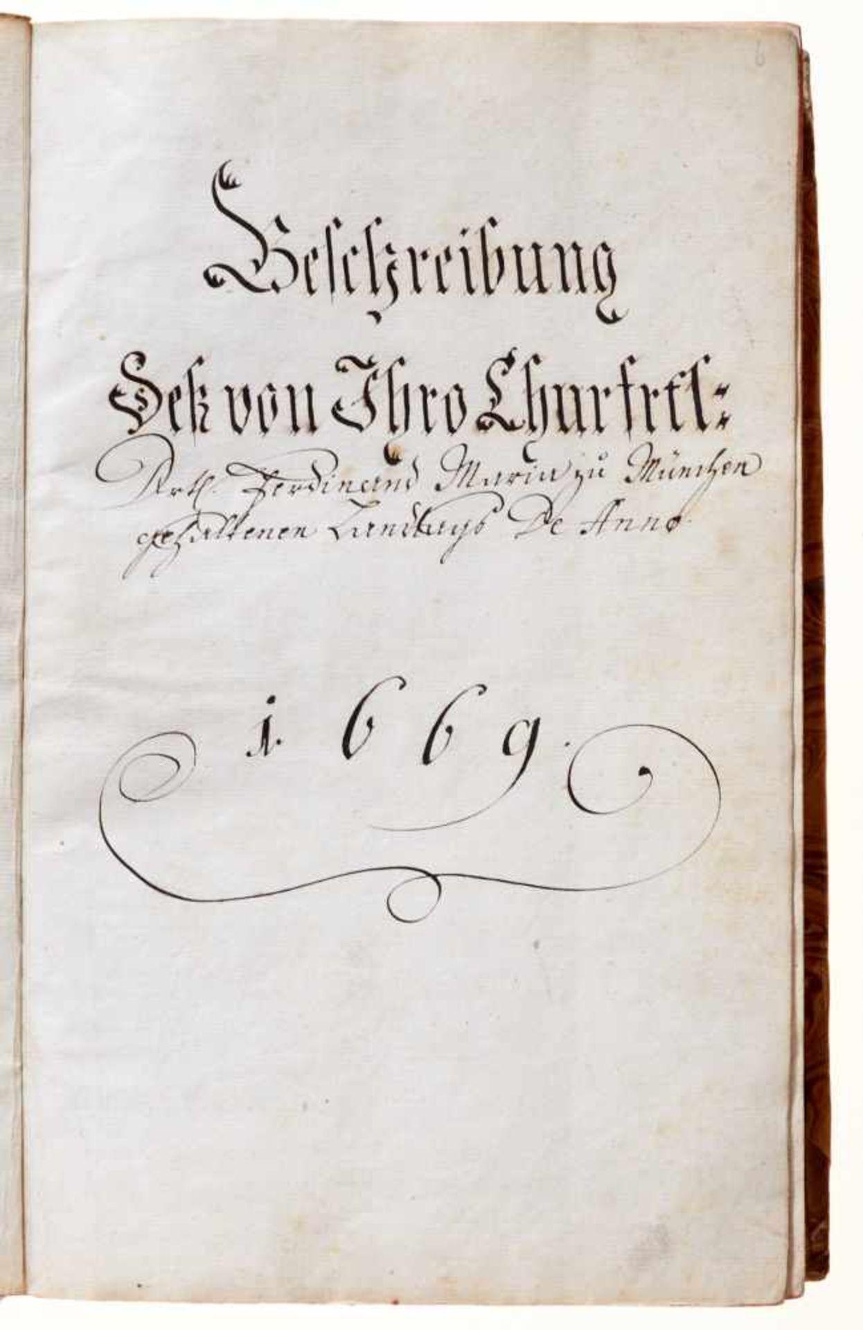 """Bayern- """"Beschreibung dess ... zuo München gehaltenen Landtags De Anno 1669."""" Deutsche Handschrift - Bild 2 aus 5"""