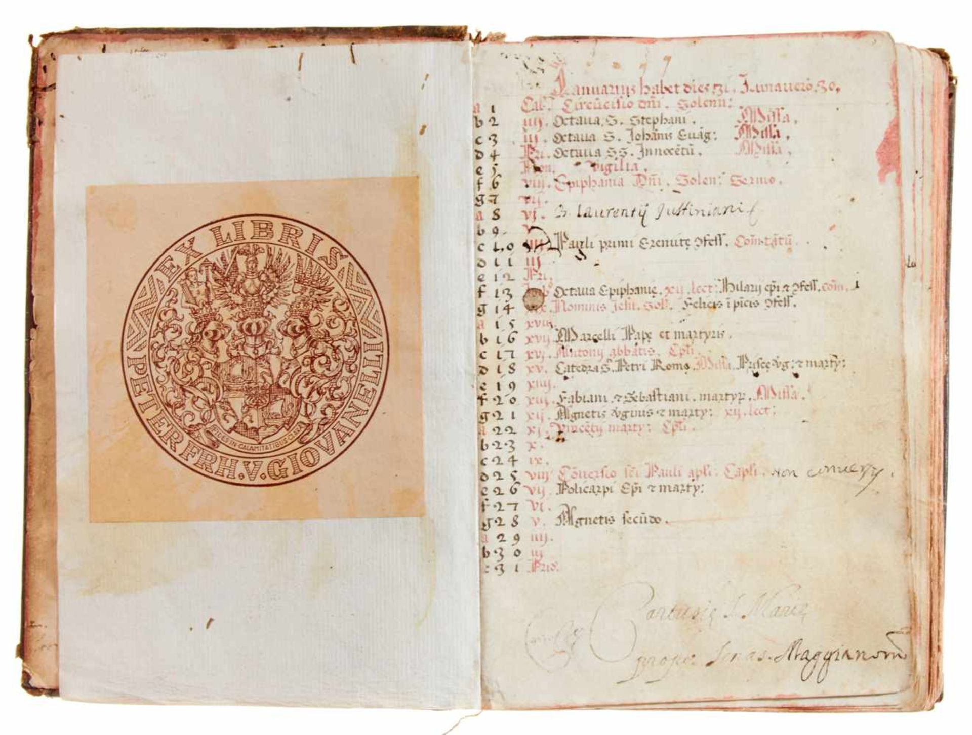Siena- Antiphonar der Kartause Maggiano. Lateinische Handschrift auf Papier.Dat. Maggiano (Siena), - Bild 2 aus 7