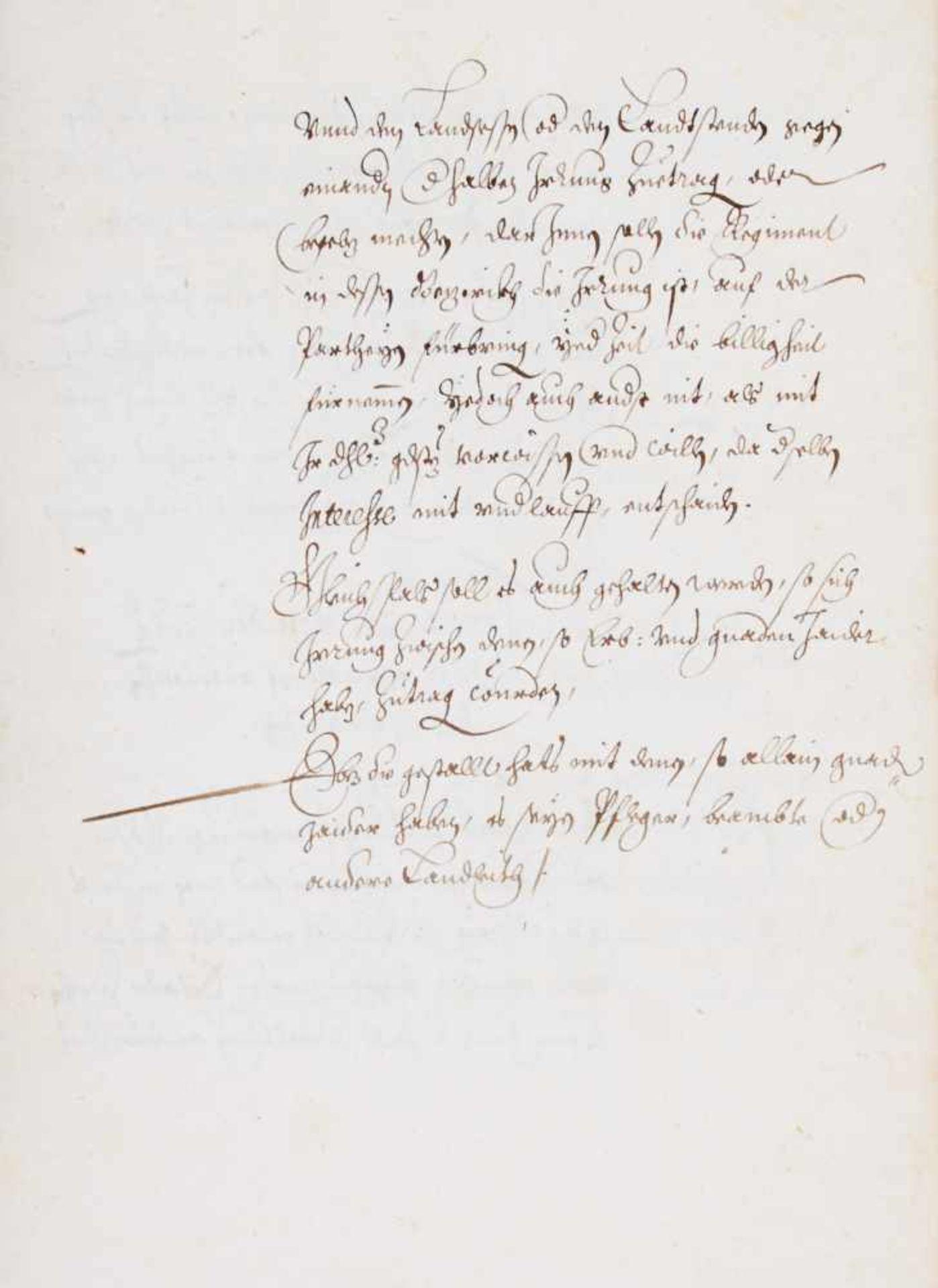 Bayern- Jagdordung - Deutsche Handschrift auf Papier. Nicht dat. WohlMünchen, 1608. Fol. 36 Bl. (das - Bild 2 aus 2