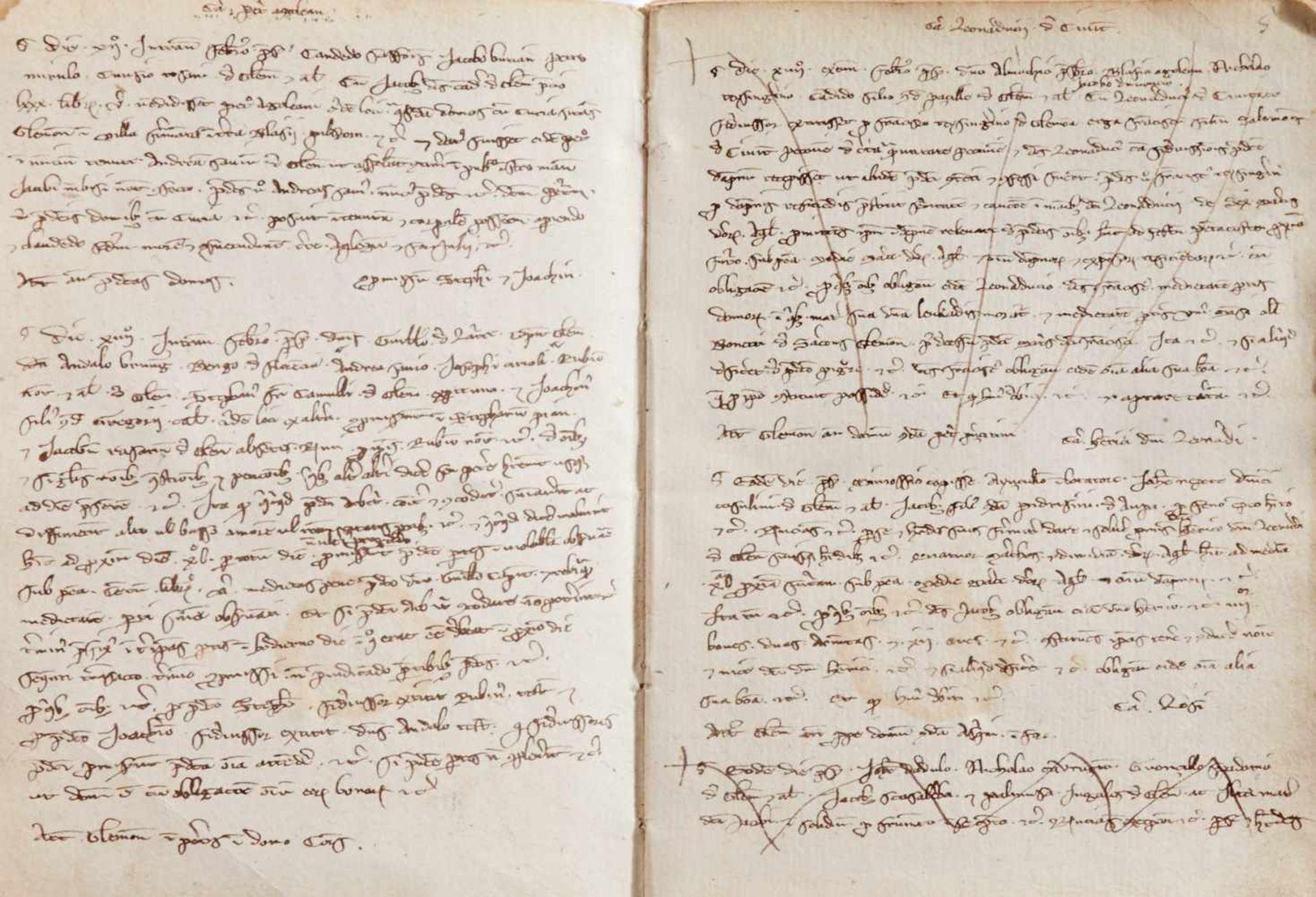 Gemona- Imbreviaturbuch des Notars Bartolomeo. Lateinische Handschrift auf Papier.Dat. Gemona ( - Bild 4 aus 9
