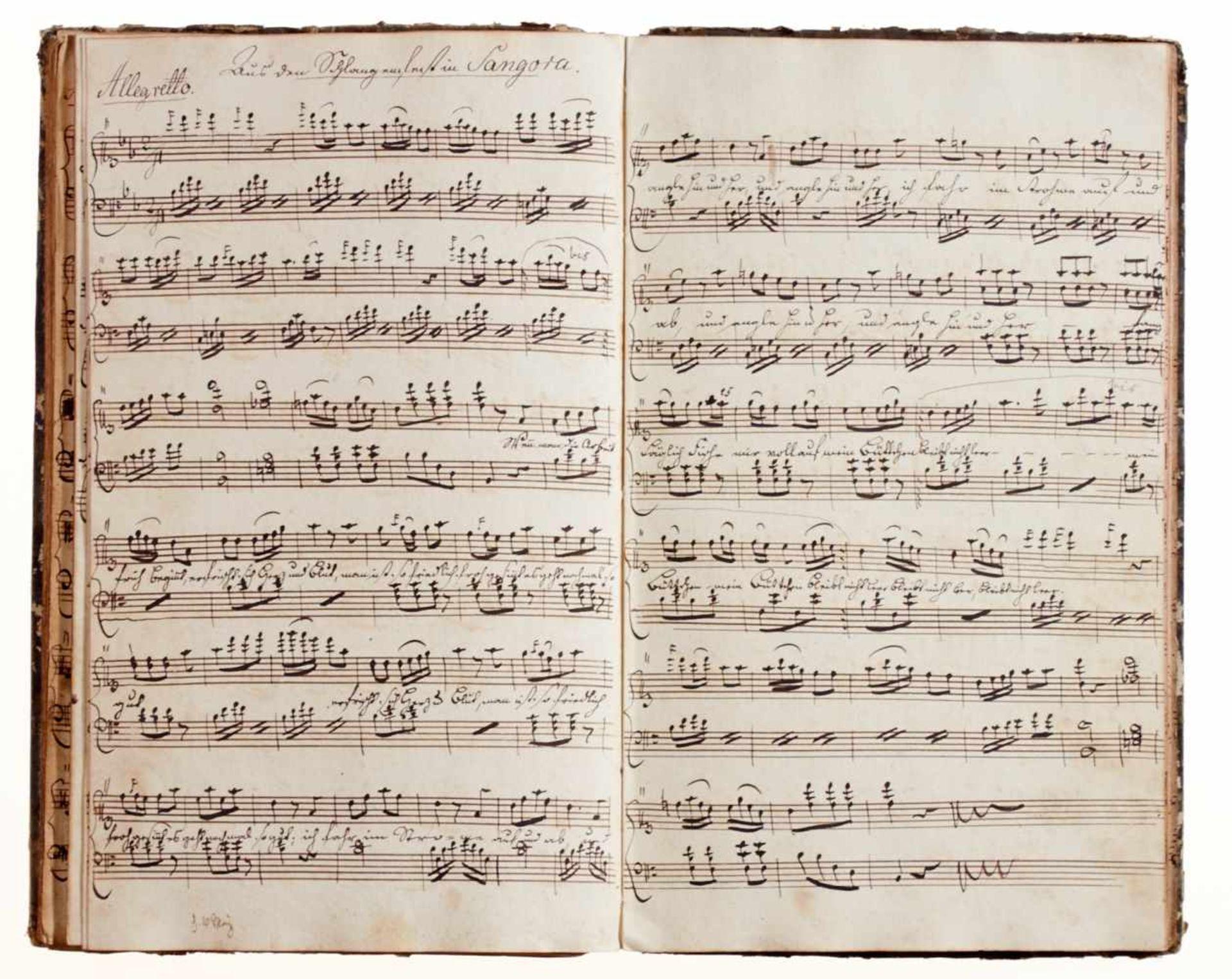 """Rese- """"Clavier Buch für I. Rese. Den 4 Junius 1798.""""Deutsche Handschrift auf Papier. Halberstadt?, - Bild 3 aus 4"""