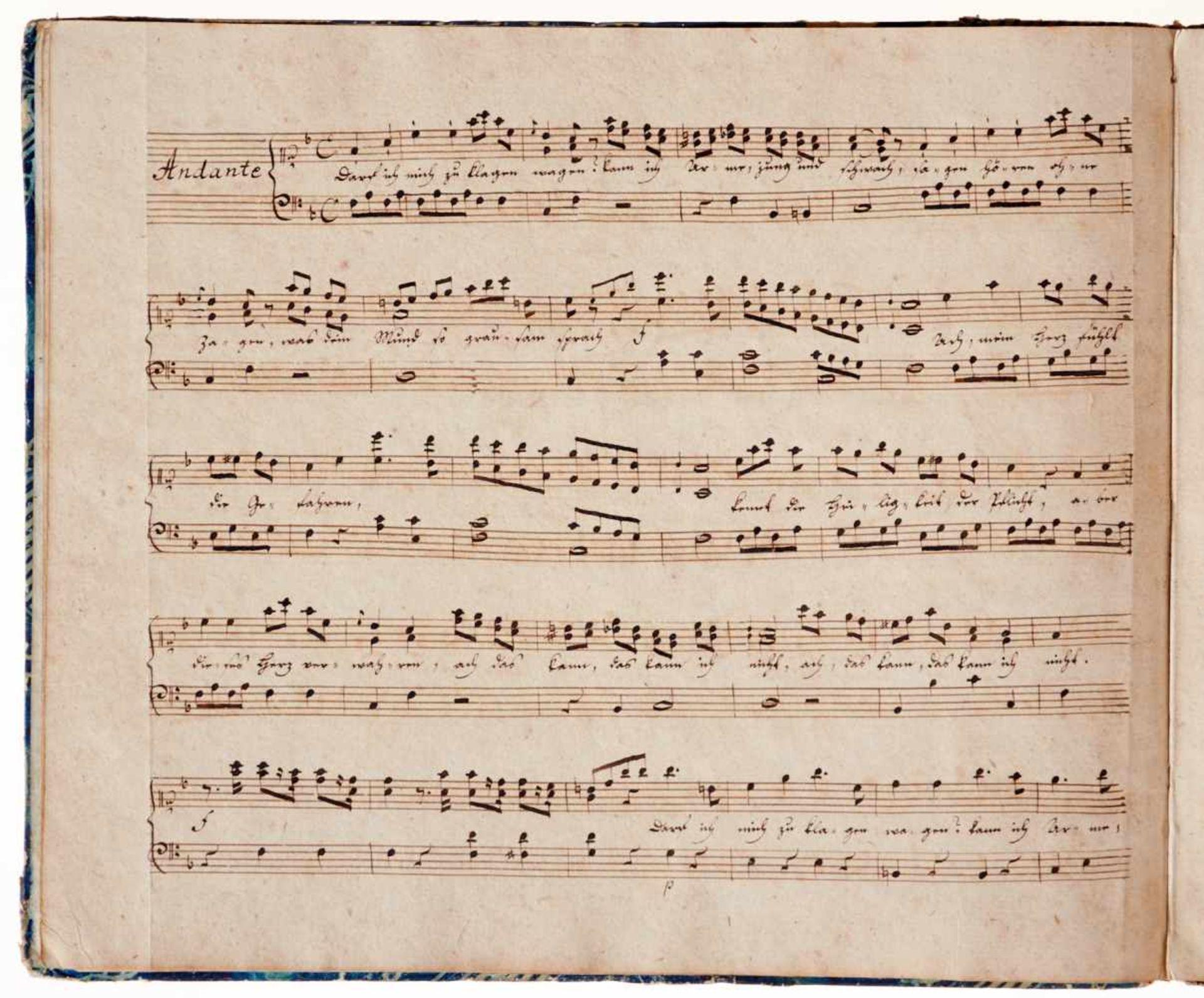 """Naumann- """"Arien aus der Oper Cora componirt von Naumann."""" Deutsche Musikhandschriftauf Papier. - Bild 3 aus 5"""
