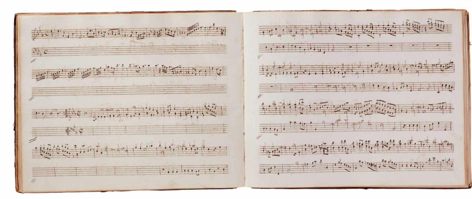Notiz- und Skizzenbuch eines in Großbritannien tätigen Komponisten.Musikhandschrift auf Papier. Wohl - Bild 20 aus 30