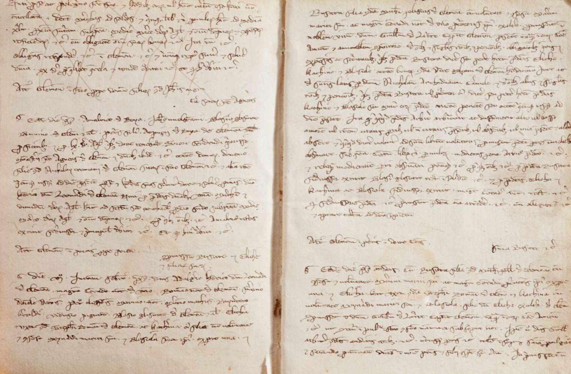 Gemona- Imbreviaturbuch des Notars Bartolomeo. Lateinische Handschrift auf Papier.Dat. Gemona ( - Bild 7 aus 9