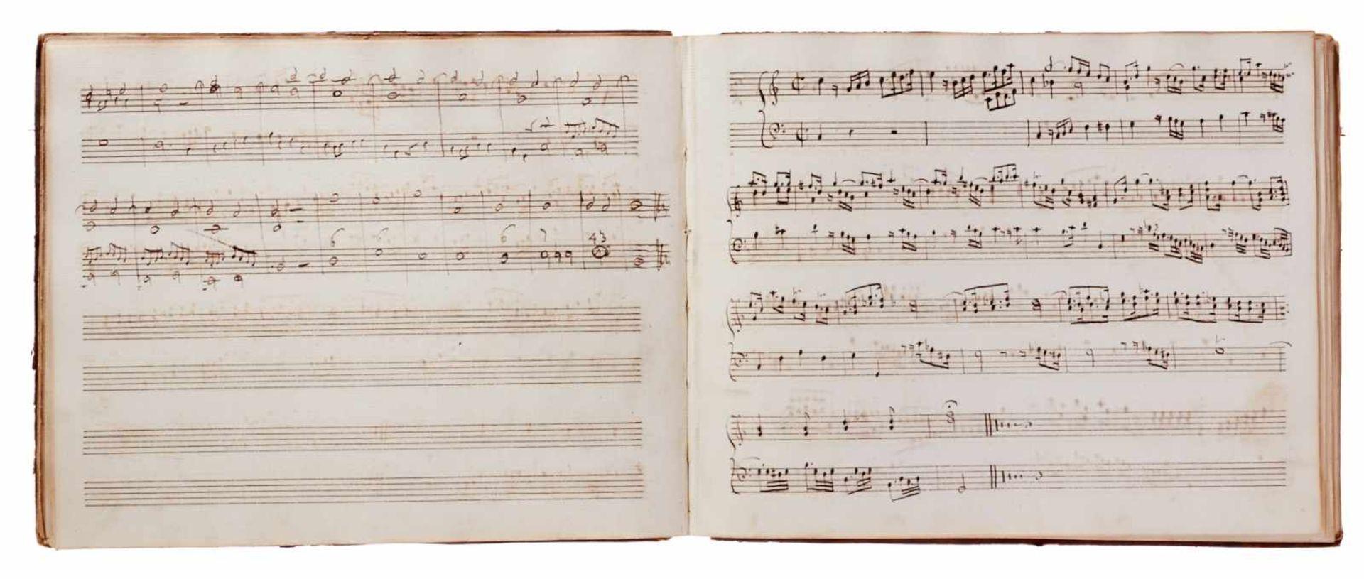 Notiz- und Skizzenbuch eines in Großbritannien tätigen Komponisten.Musikhandschrift auf Papier. Wohl - Bild 28 aus 30