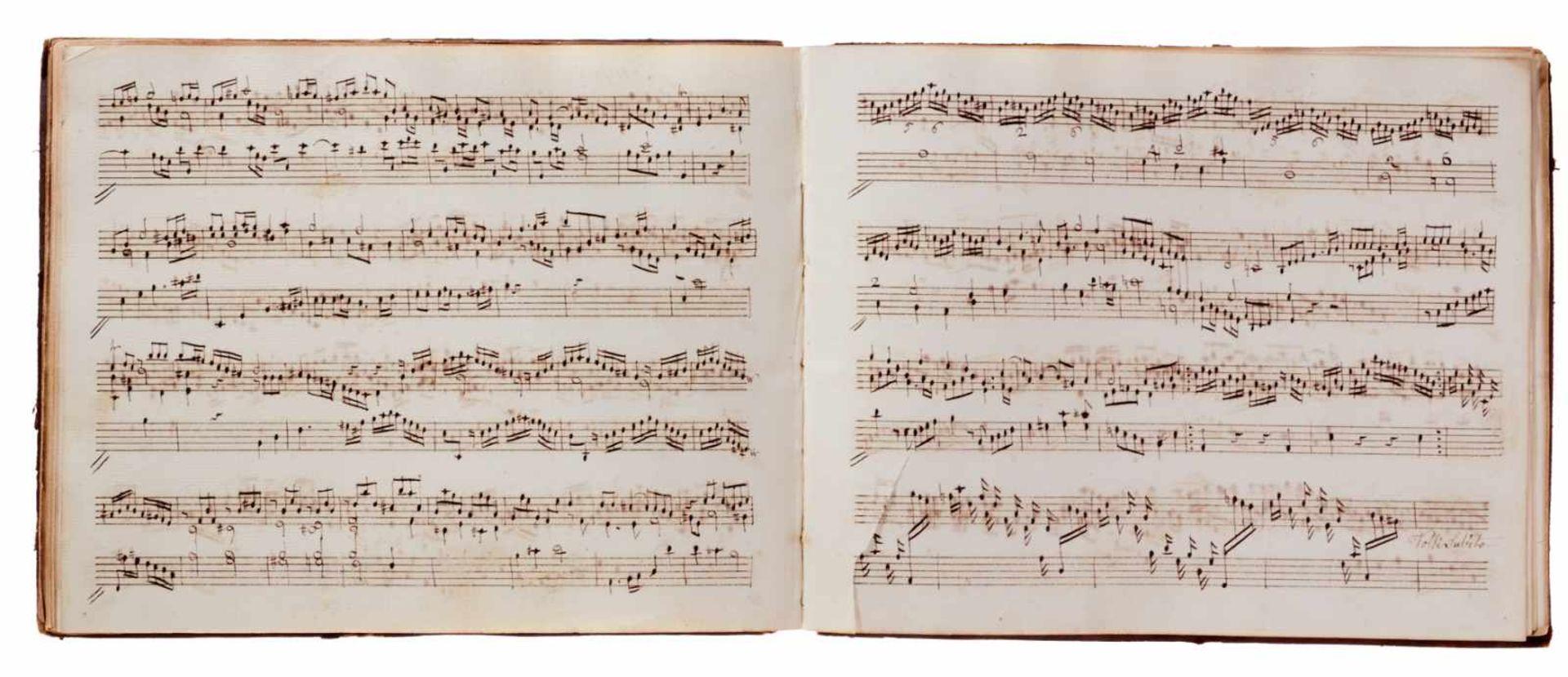 Notiz- und Skizzenbuch eines in Großbritannien tätigen Komponisten.Musikhandschrift auf Papier. Wohl - Bild 13 aus 30