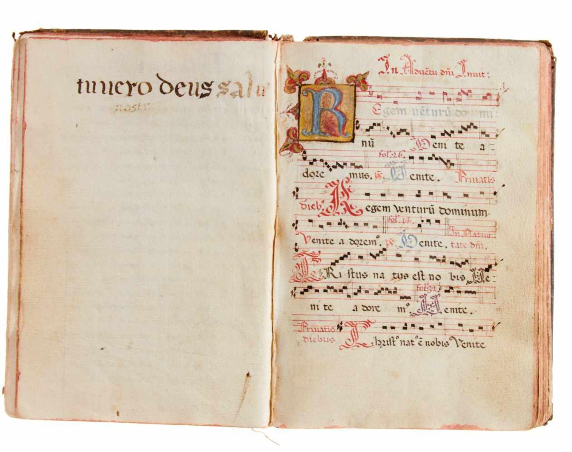 Siena- Antiphonar der Kartause Maggiano. Lateinische Handschrift auf Papier.Dat. Maggiano (Siena), - Bild 3 aus 7