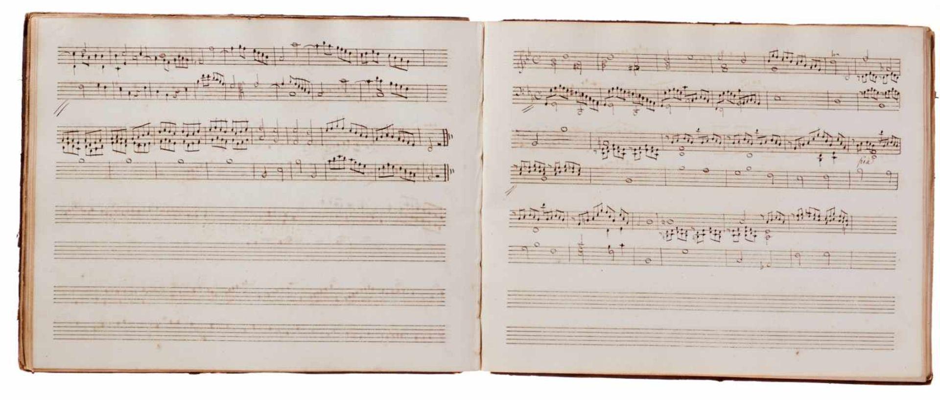 Notiz- und Skizzenbuch eines in Großbritannien tätigen Komponisten.Musikhandschrift auf Papier. Wohl - Bild 18 aus 30