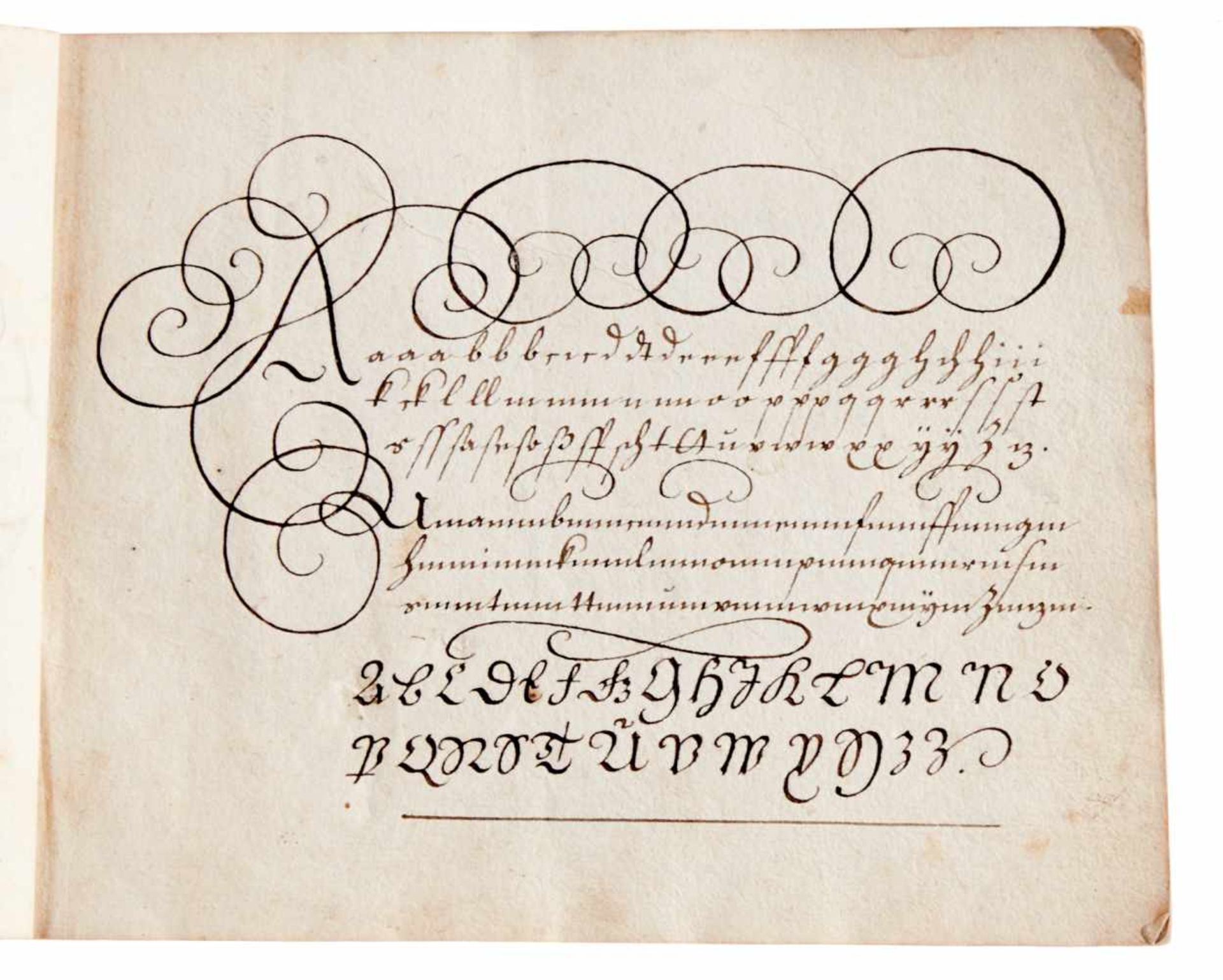 Schreibmeisterbuch - Abschrift des seltenen, um 1713 inNürnberg bei Johann Christoph Weigel - Bild 3 aus 5