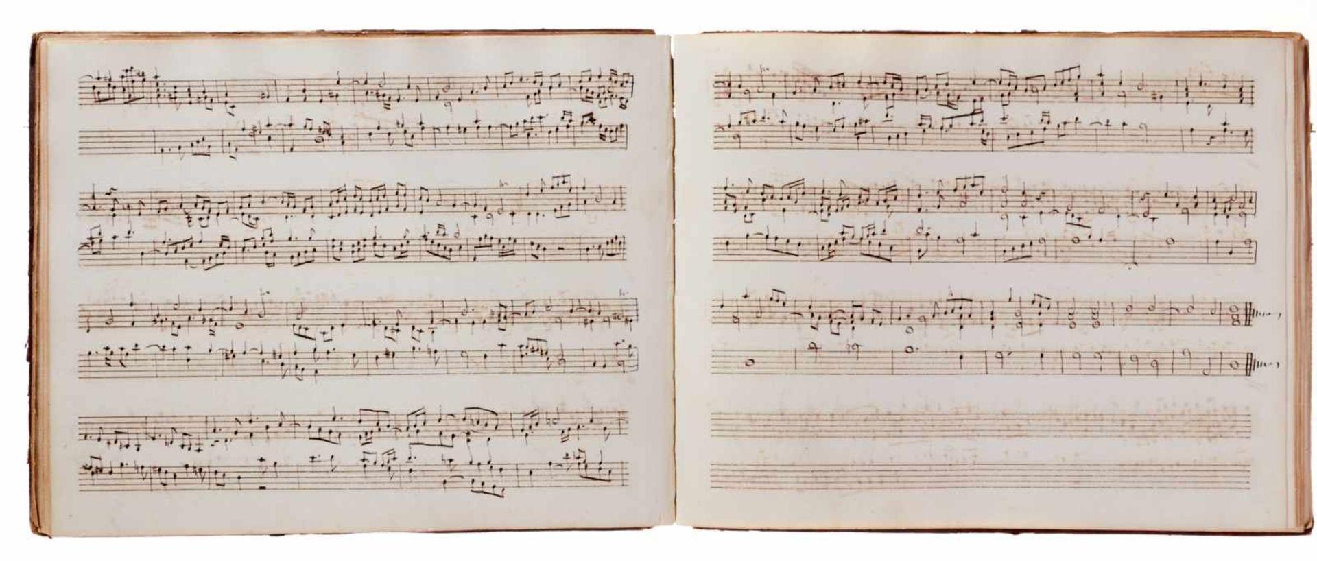 Notiz- und Skizzenbuch eines in Großbritannien tätigen Komponisten.Musikhandschrift auf Papier. Wohl - Bild 21 aus 30