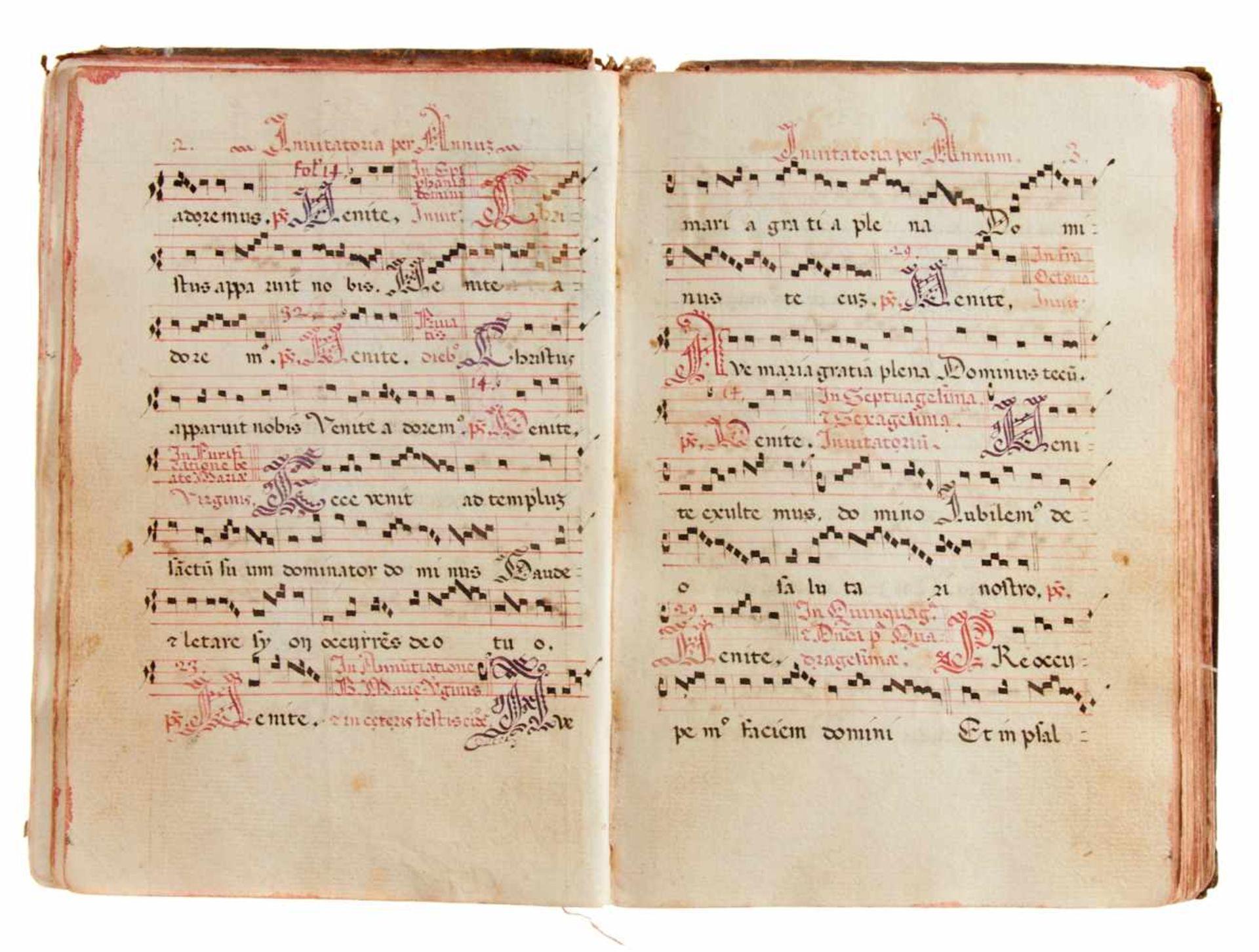 Siena- Antiphonar der Kartause Maggiano. Lateinische Handschrift auf Papier.Dat. Maggiano (Siena), - Bild 5 aus 7