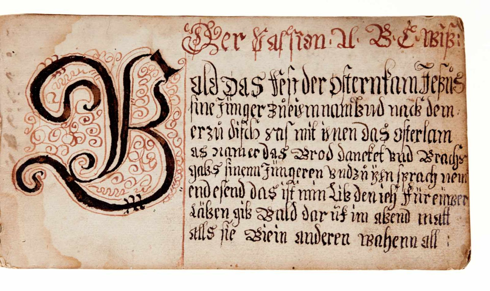 """Schriftmusterbuch- """"Vorgeschrifft Büchlin"""". Deutsche Handschrift auf Papier. WohlDeutschland, dat. - Bild 2 aus 4"""