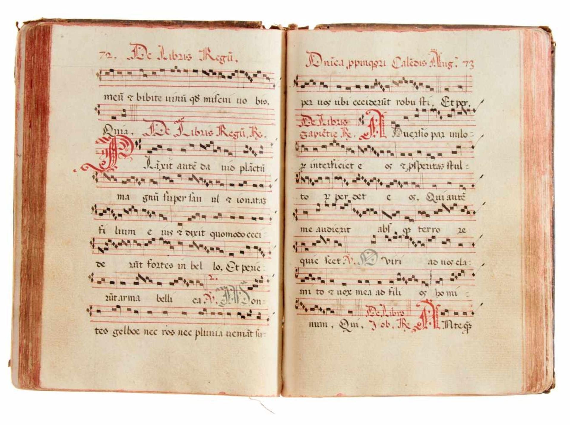 Siena- Antiphonar der Kartause Maggiano. Lateinische Handschrift auf Papier.Dat. Maggiano (Siena), - Bild 6 aus 7