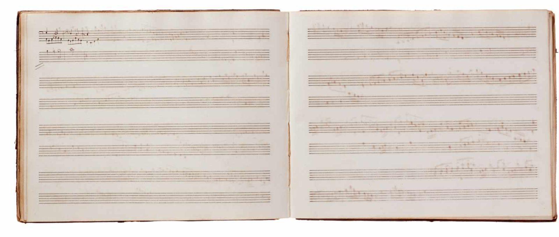 Notiz- und Skizzenbuch eines in Großbritannien tätigen Komponisten.Musikhandschrift auf Papier. Wohl - Bild 16 aus 30