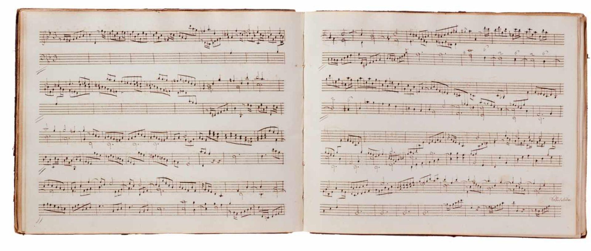 Notiz- und Skizzenbuch eines in Großbritannien tätigen Komponisten.Musikhandschrift auf Papier. Wohl - Bild 17 aus 30